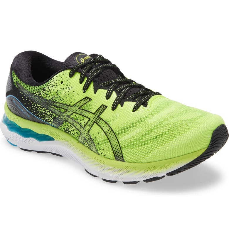 ASICS<SUP>®</SUP> GEL-Nimbus 23 Running Shoe, Main, color, HAZARD GREEN/ BLACK