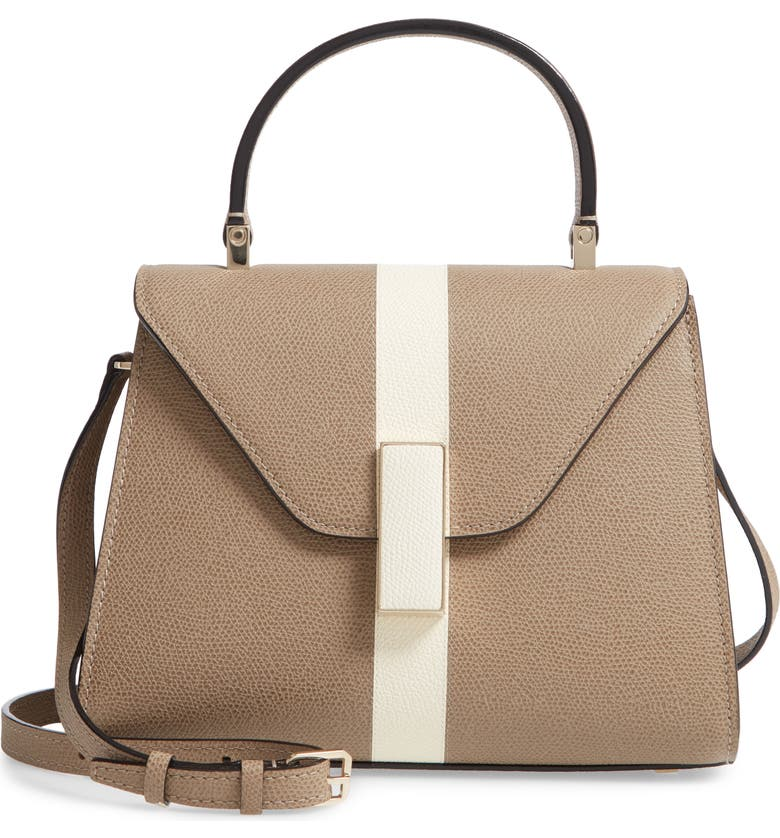 VALEXTRA Mini Iside Top Handle Bag, Main, color, OYSTER/ PERGAMENA