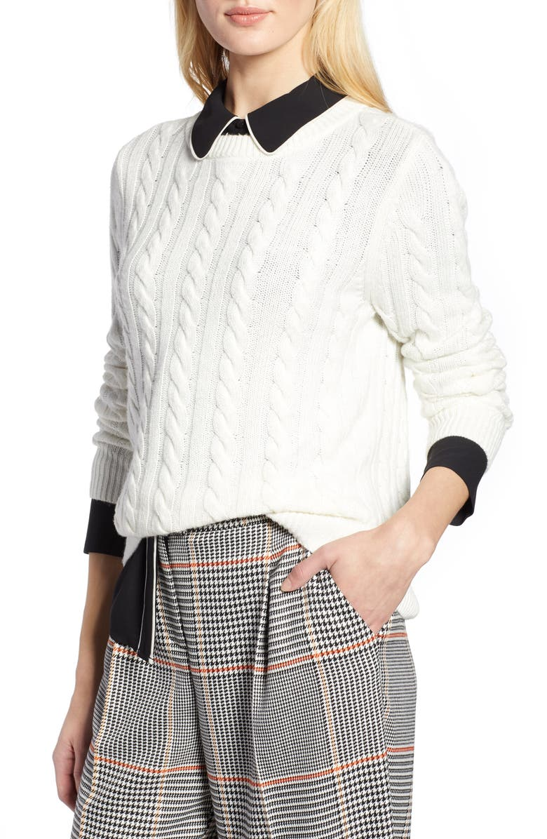 HALOGEN<SUP>®</SUP> x Atlantic-Pacific Cable Sweater, Main, color, 900