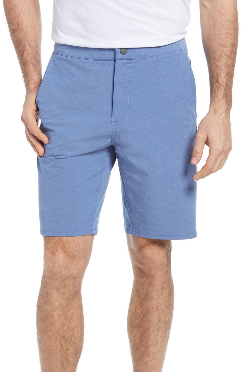 JOHNNIE-O Dawn 2 Dusk Hybrid Shorts, Main, color, LAGUNA BLUE