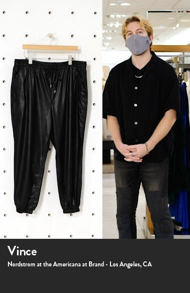 East Vibes Faux Leather Joggers, sales video thumbnail