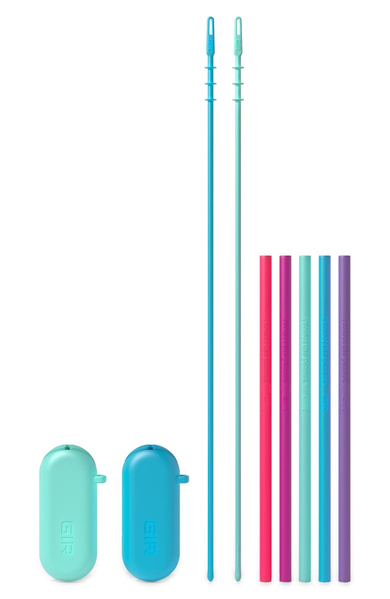 GIR 5-Pack Standard Silicone Straws, Main, color, GALAXY