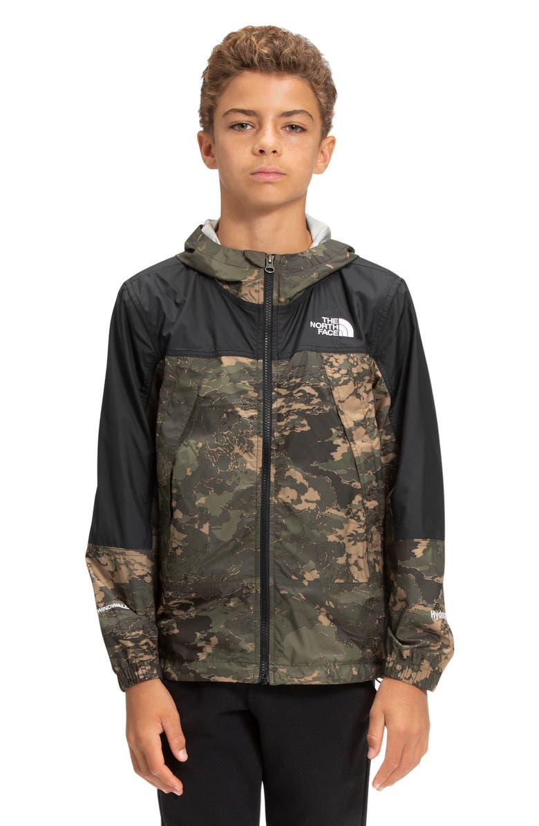 THE NORTH FACE Kids' Hydrenaline Windbreaker, Main, color, NEW TAUPE GREEN TONAL CLOUD