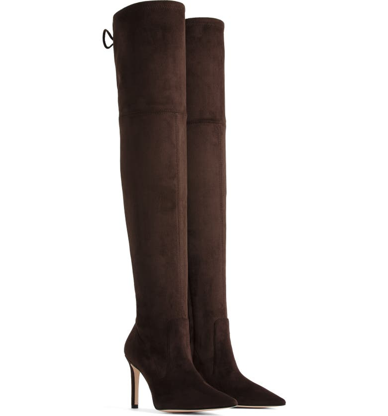 GOOD AMERICAN The Overtime Over the Knee Boot, Main, color, CHOCOLATE BROWN SUEDE