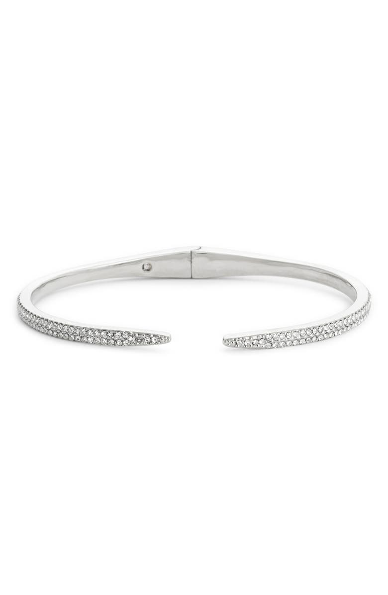 NORDSTROM Open Cuff, Main, color, CLEAR- SILVER