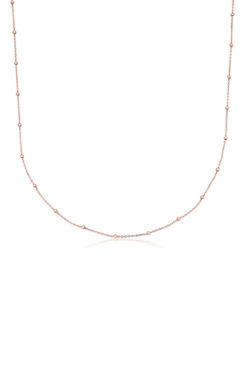 MONICA VINADER 21-Inch Fine Beaded Chain, Main, color, ROSE GOLD