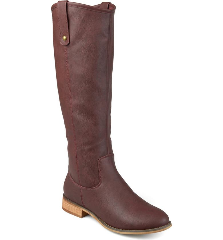 JOURNEE Taven Mid Calf Boot - Extra Wide Calf, Main, color, WINE