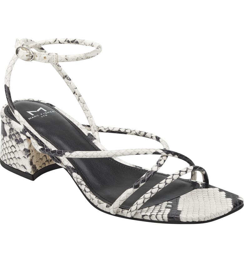 MARC FISHER LTD Jared Ankle Strap Sandal, Main, color, GREY LEATHER