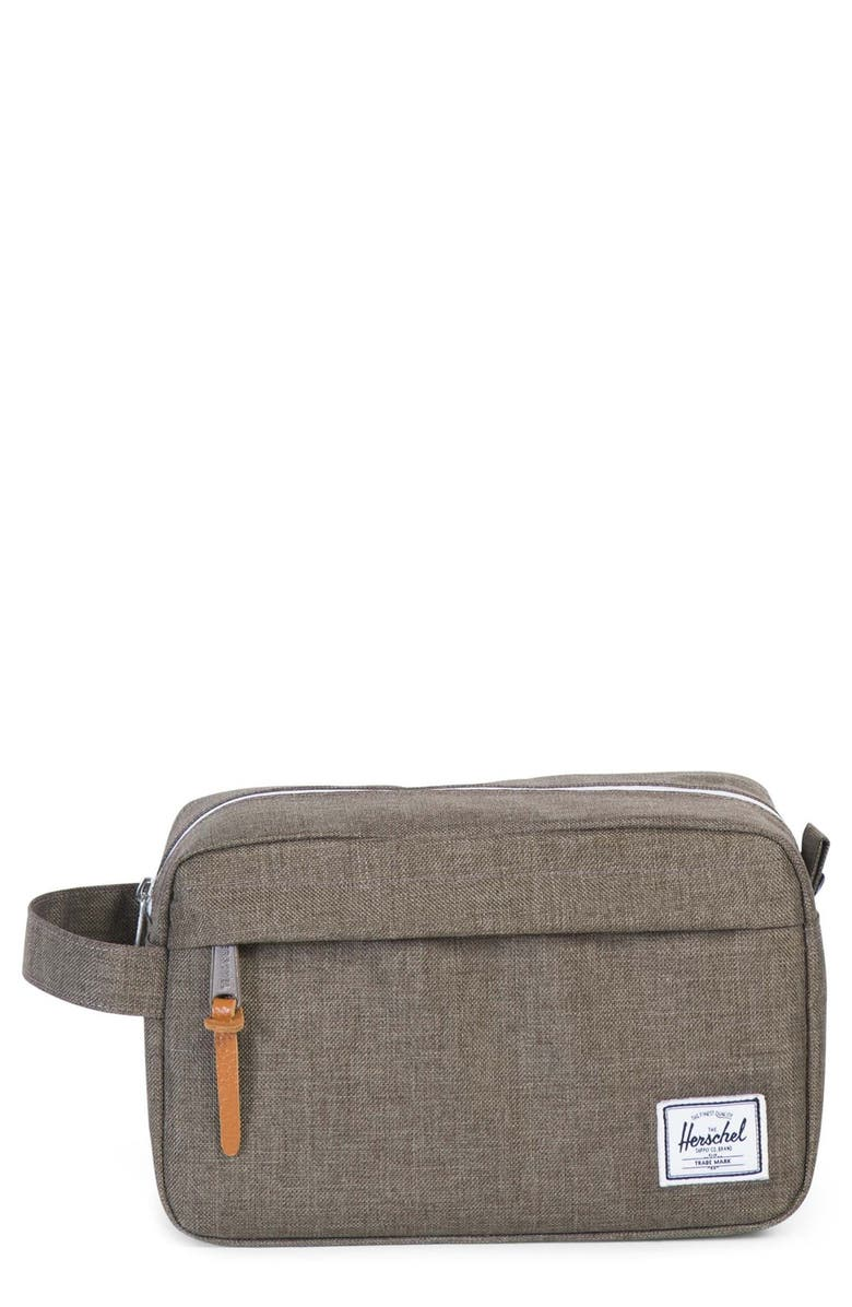 HERSCHEL SUPPLY CO. Chapter Travel Kit, Main, color, CANTEEN CROSSHATCH