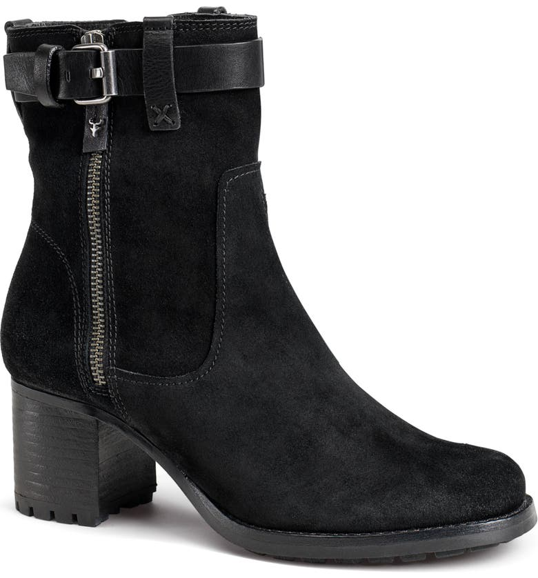 TRASK Madison Waterproof Boot, Main, color, BLACK SUEDE