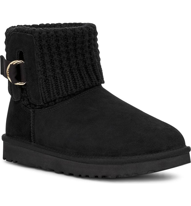UGG<SUP>®</SUP> Mini Classic Solene Boot, Main, color, BLACK SUEDE