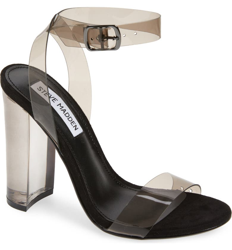 STEVE MADDEN Camille Clear Ankle Strap Sandal, Main, color, 095
