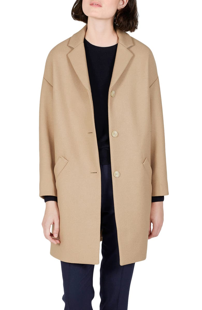 EVERLANE The Cocoon Wool Blend Coat, Main, color, 201