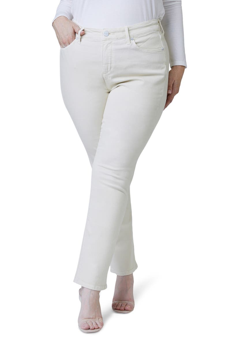 SLINK JEANS High Waist Straight Leg Jeans, Main, color, CHAMPAGNE
