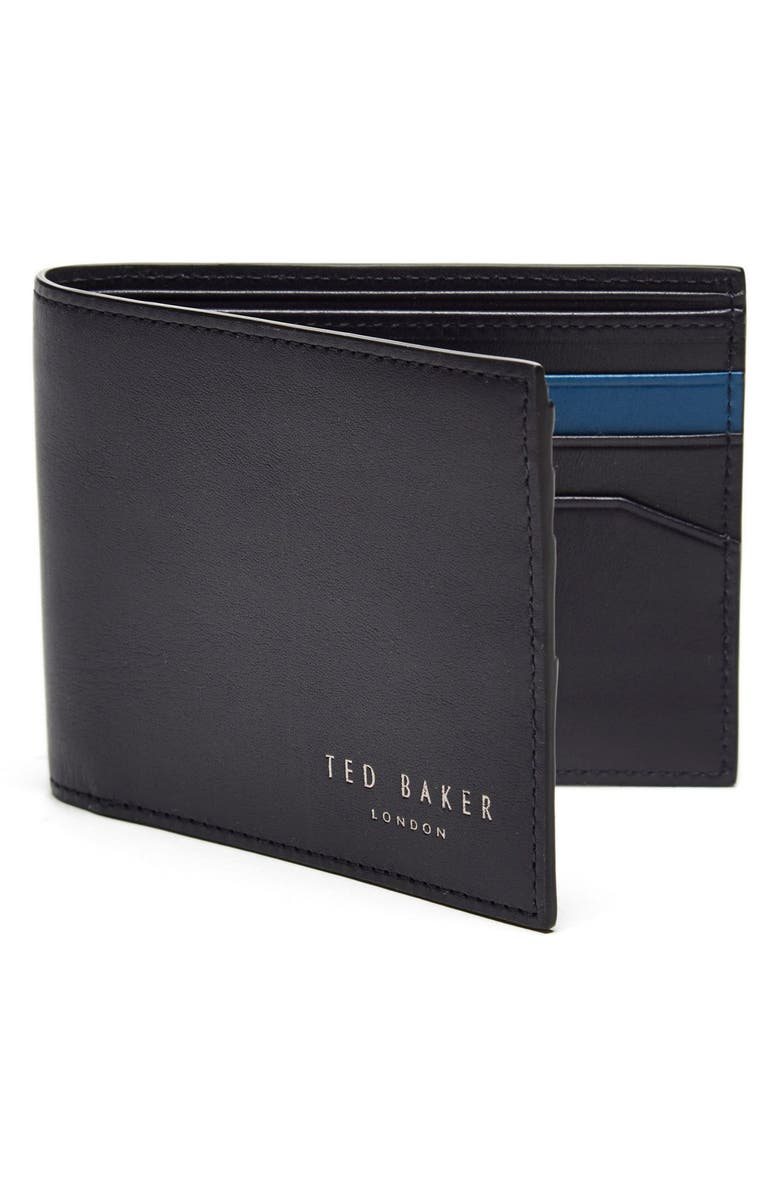 TED BAKER LONDON Leather Wallet, Main, color, 410