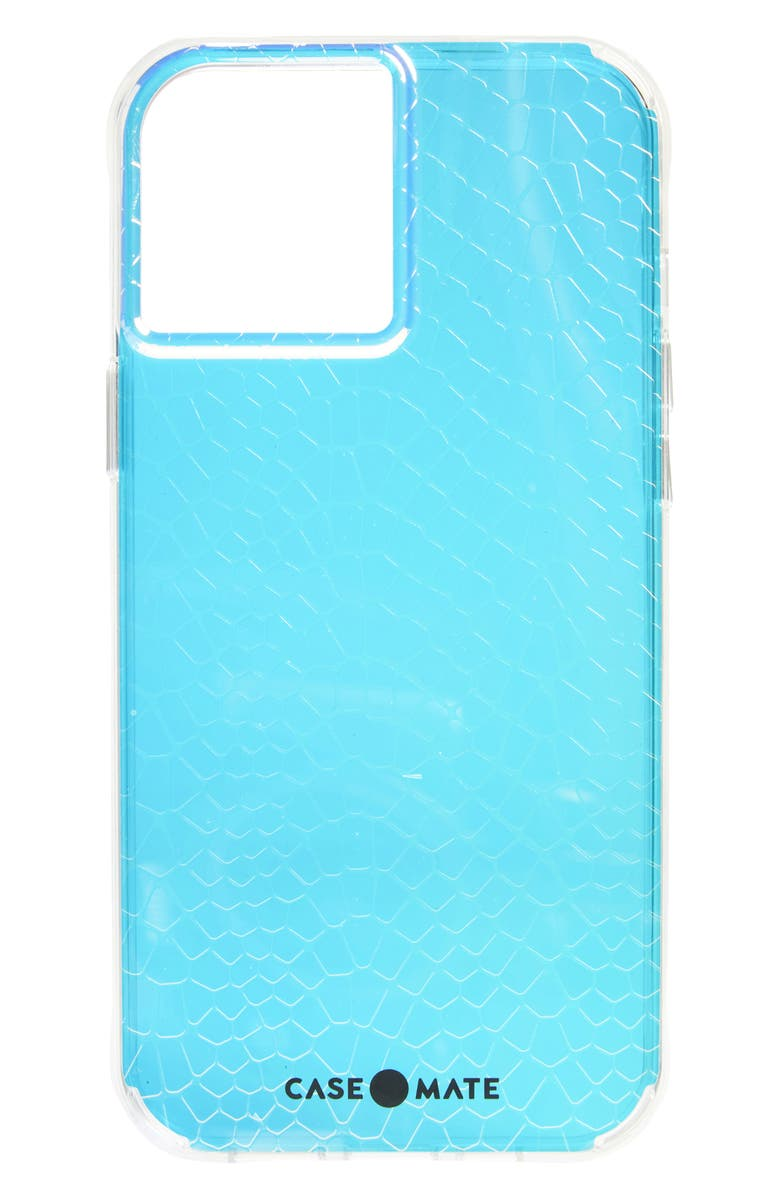 CASE-MATE<SUP>®</SUP> Iridescent Snakeskin Textured iPhone 12 Pro Max Case, Main, color, IRIDESCENT SNAKE