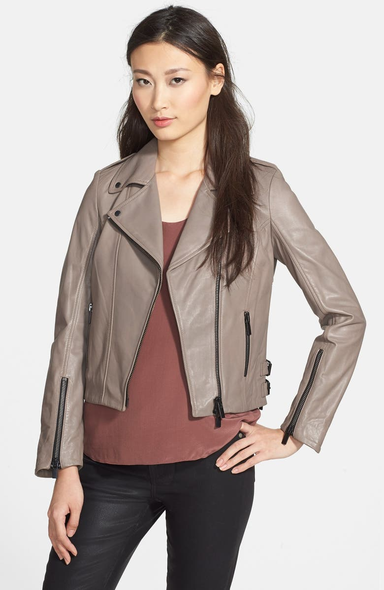 LAMARQUE Lambskin Leather Jacket, Main, color, 261