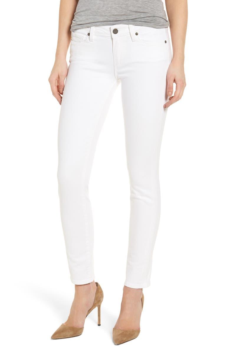 PAIGE 'Skyline' Ankle Peg Skinny Jeans, Main, color, 100