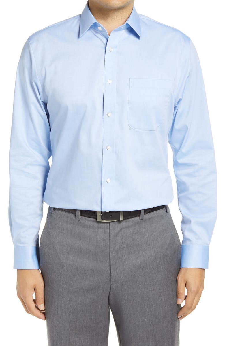 NORDSTROM MEN'S SHOP Nordstrom Traditional Fit Non-Iron Dress Shirts, Main, color, BLUE AZURITE