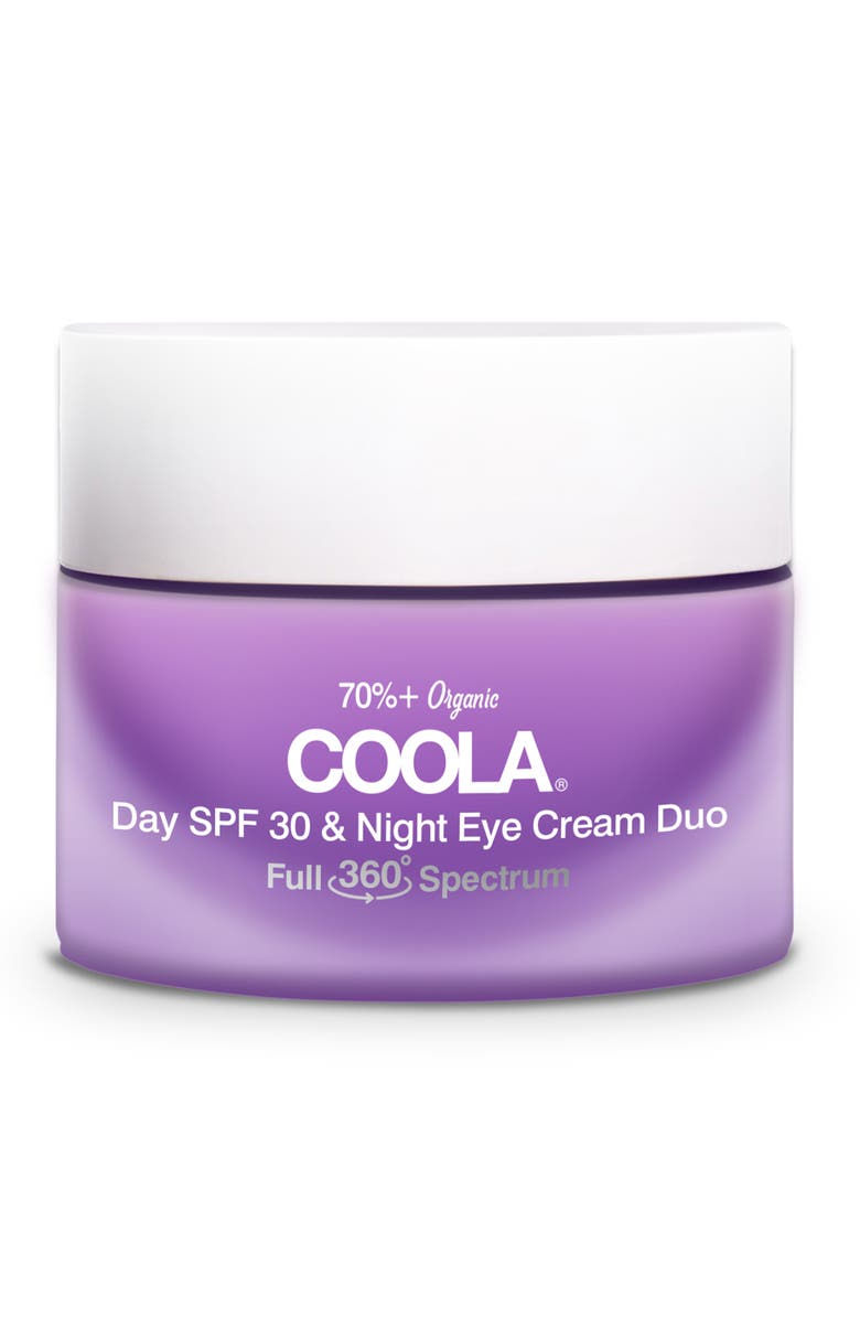 COOLA<SUP>®</SUP> Full Spectrum 360° Day SPF 30 & Night Organic Eye Cream Duo, Main, color, No Color