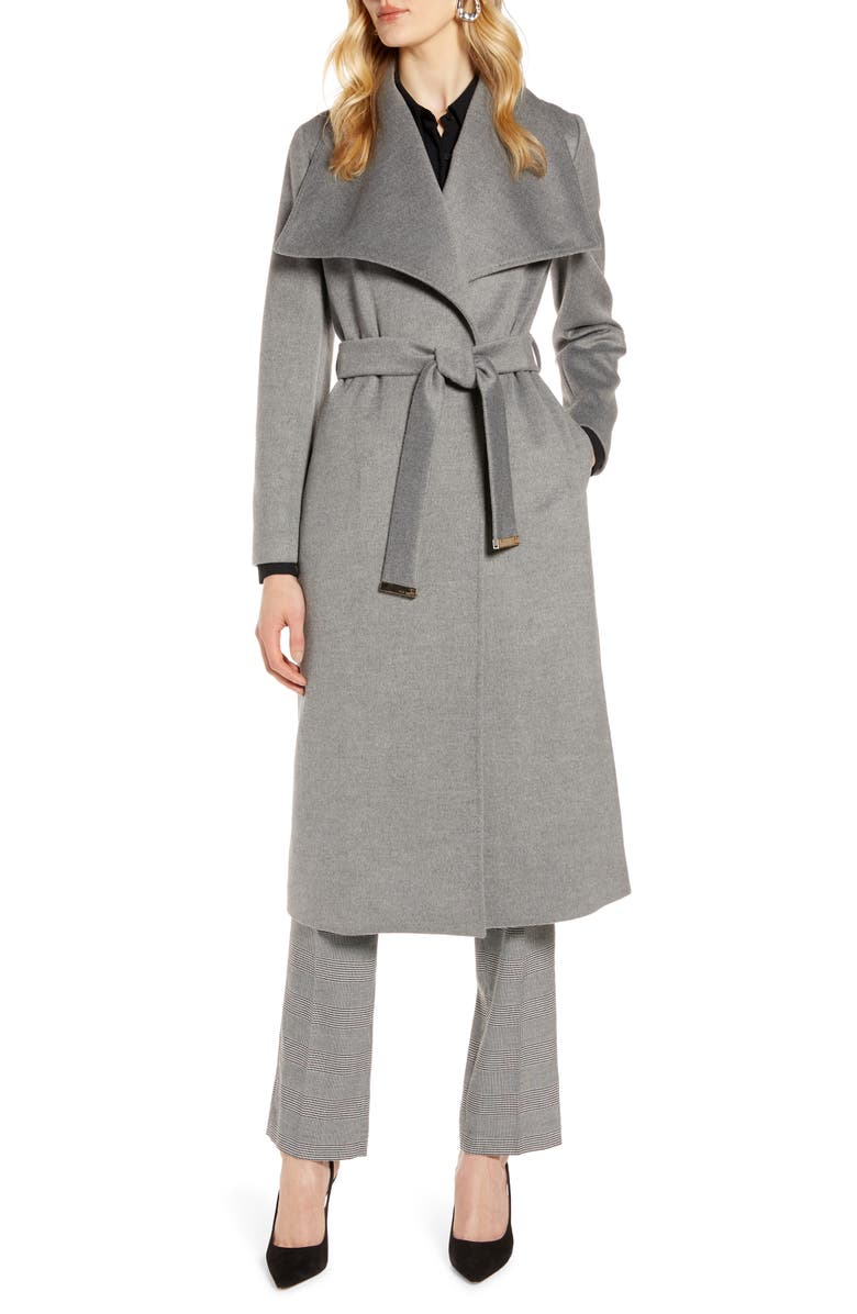 TED BAKER LONDON Wide Collar Brushed Wrap Coat, Main, color, 050