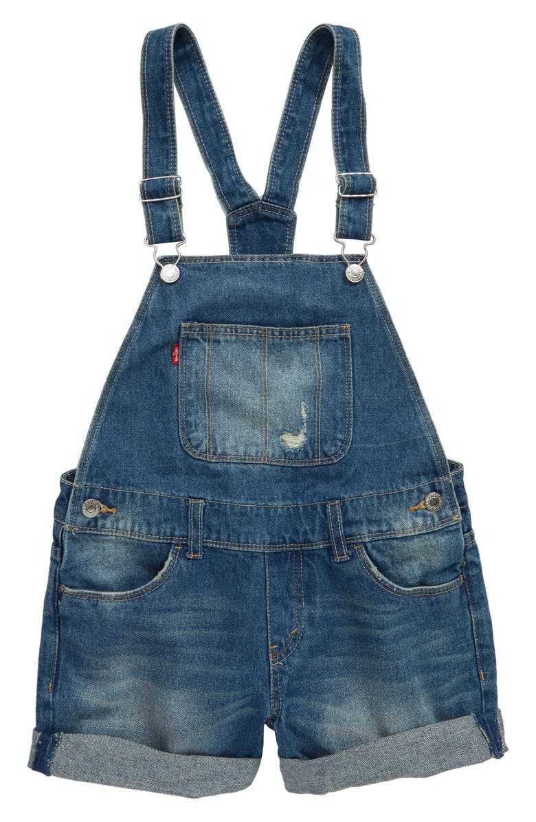 LEVI'S<SUP>®</SUP> Denim Shortalls, Main, color, VINTAGE WATERS