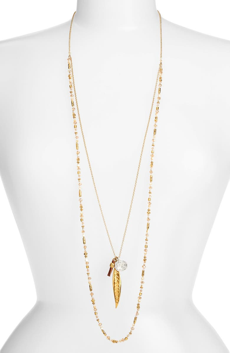 CHAN LUU Layered Cluster Pendant Necklace, Main, color, 250