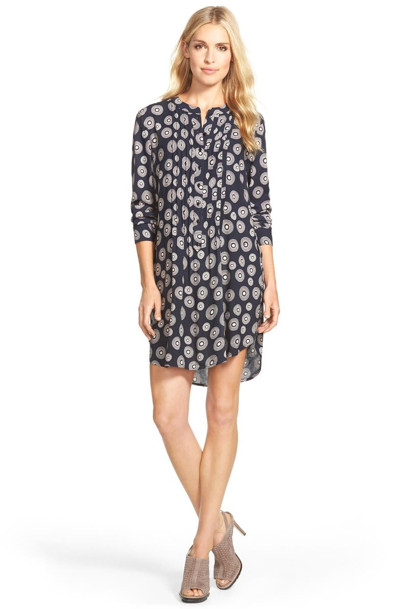 SANDRA Shirttail Hem Tunic Dress, Main, color, 400