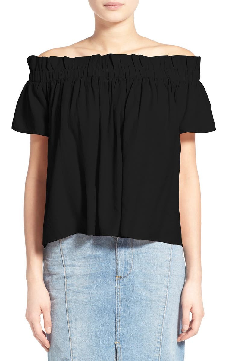 LUCCA COUTURE Off-the-Shoulder Blouse, Main, color, BLACK