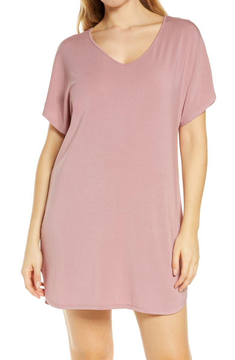 NORDSTROM Moonlight Dream Dolman Nightshirt, Main, color, PINK NOSTALGIA