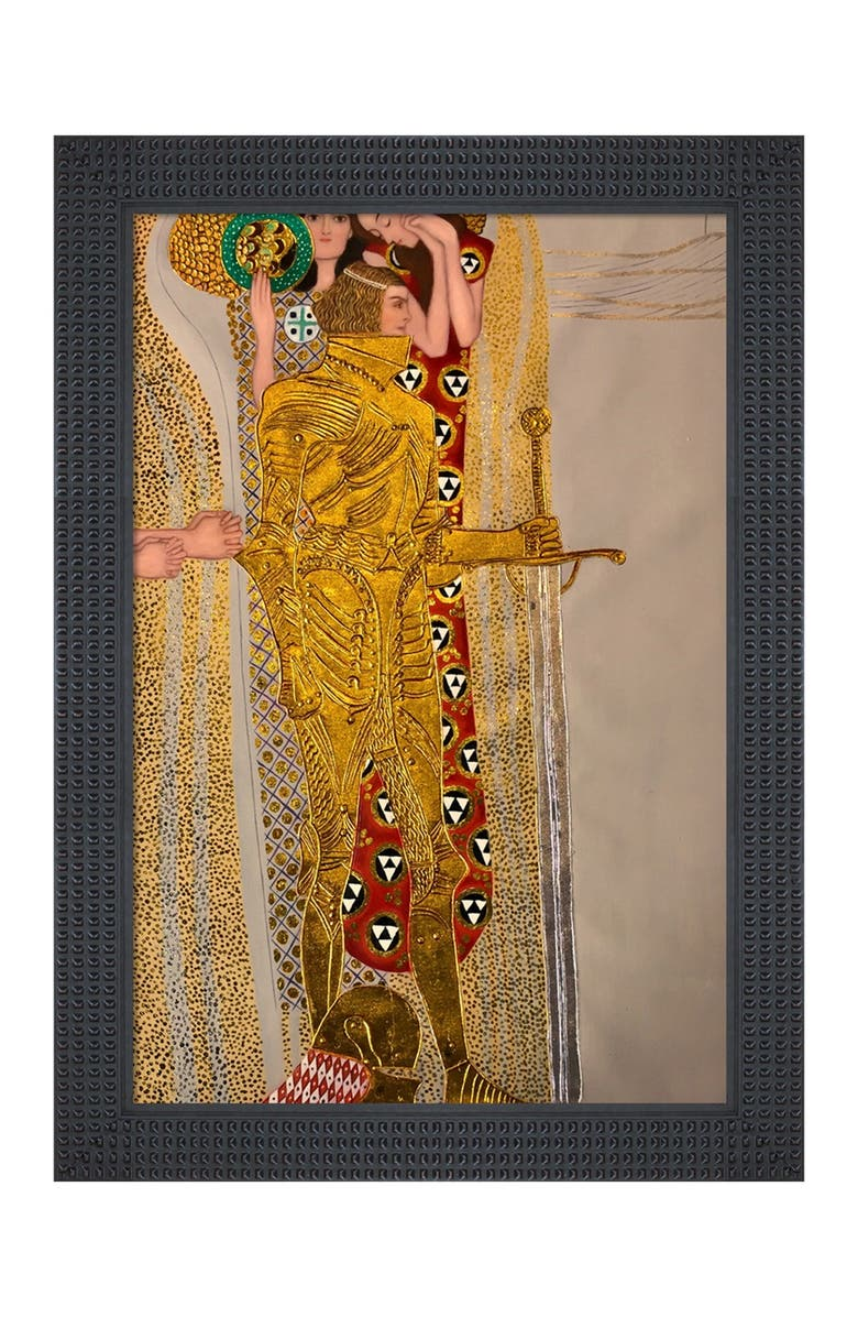 OVERSTOCK ART Beethoven Frieze, The Well-Armed Strong, Compassion and Ambition, 1902 (Luxury Line) - Framed Oil Reproduction of an Original Painting by Gustav Klimt, Main, color, MULTI