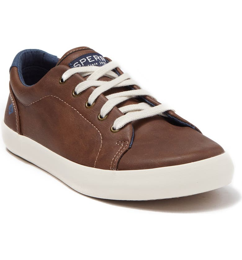 SPERRY Tuck Lace-Up Sneaker, Main, color, DARK TAN