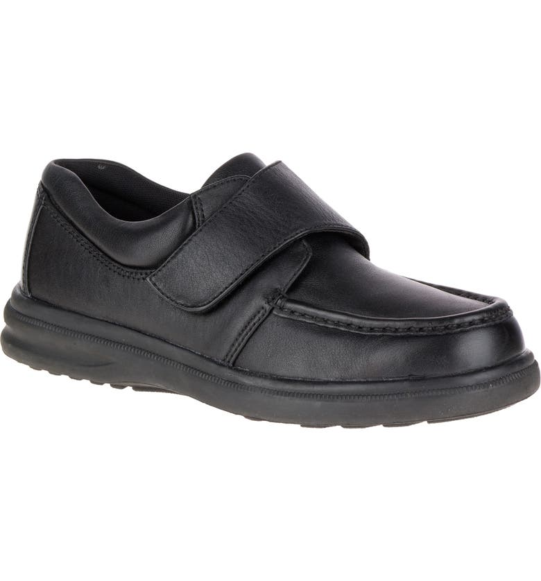 HUSH PUPPIES<SUP>®</SUP> Gil Sneaker, Main, color, BLACK LEATHER