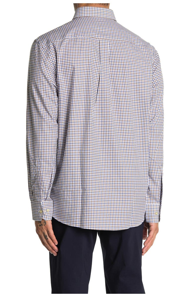 SCOTT BARBER Tattersall Button-Down Shirt, Main, color, NO COLOR