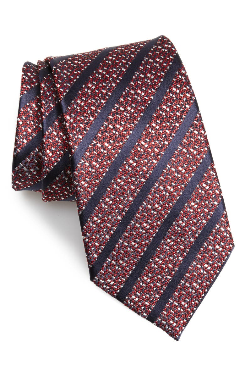 ERMENEGILDO ZEGNA Stripe Silk Tie, Main, color, 614