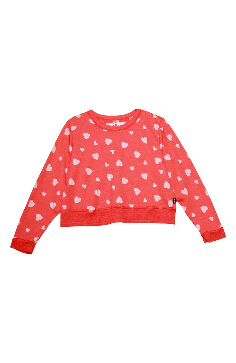 T2 LOVE Heart Print Sweatshirt, Main, color, 600