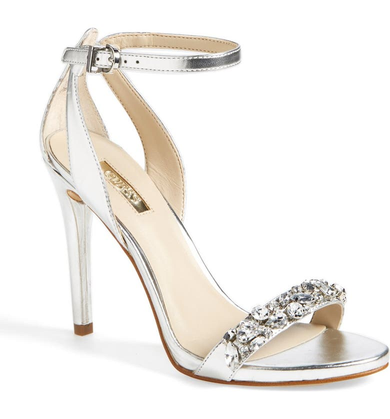 GUESS 'Catarina' Ankle Strap Sandal, Main, color, 040