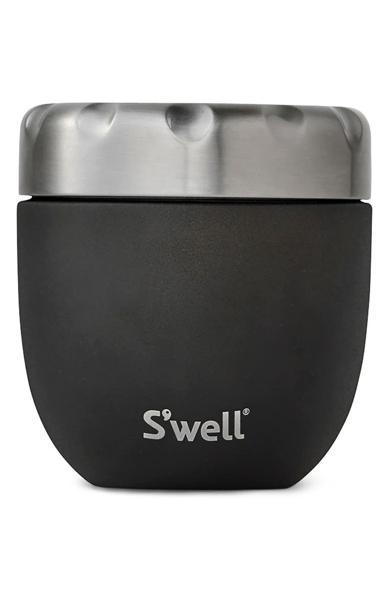 S'WELL Onyx Eats<sup>™</sup> Insulated Stainless Steel Bowl & Lid, Main, color, ONYX