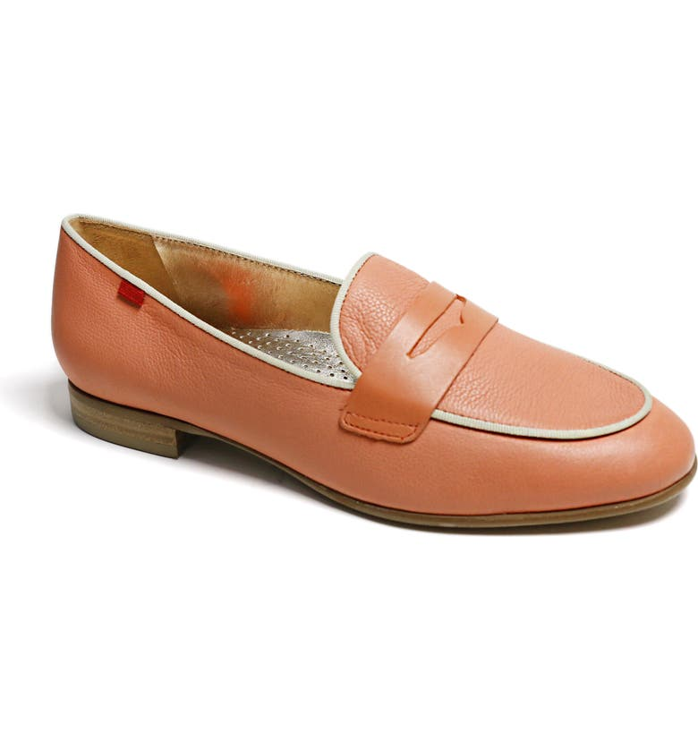 MARC JOSEPH NEW YORK Bryant Park Penny Loafer, Main, color, SALMON SOFT