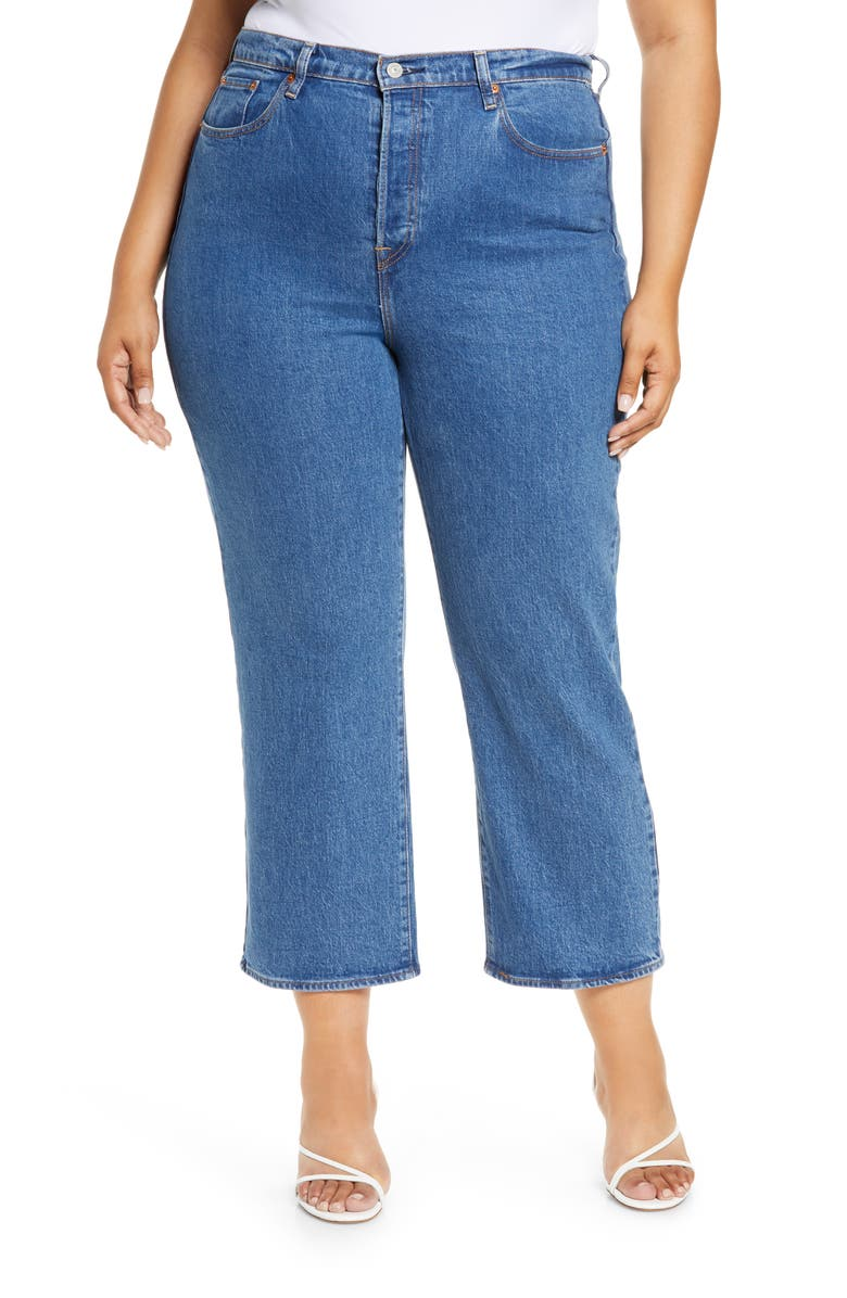 LEVI'S<SUP>®</SUP> Ribcage Ankle Straight Leg Jeans, Main, color, 420