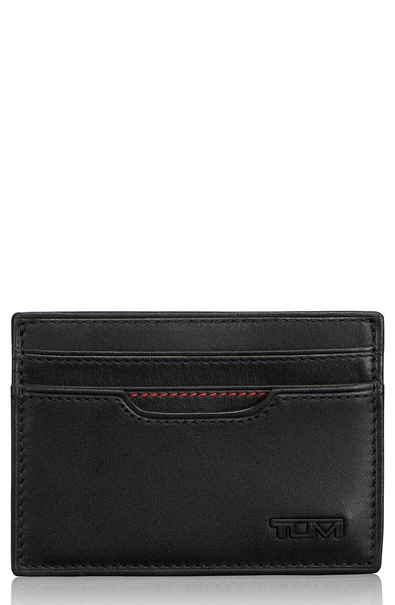 TUMI Delta ID Lock<sup>™</sup> Shielded Money Clip Card Case, Main, color, BLACK