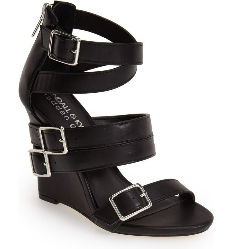 KENDALL & KYLIE KENDALL + KYLIE Madden Girl 'Wannder' Wedge Sandal, Main, color, 005