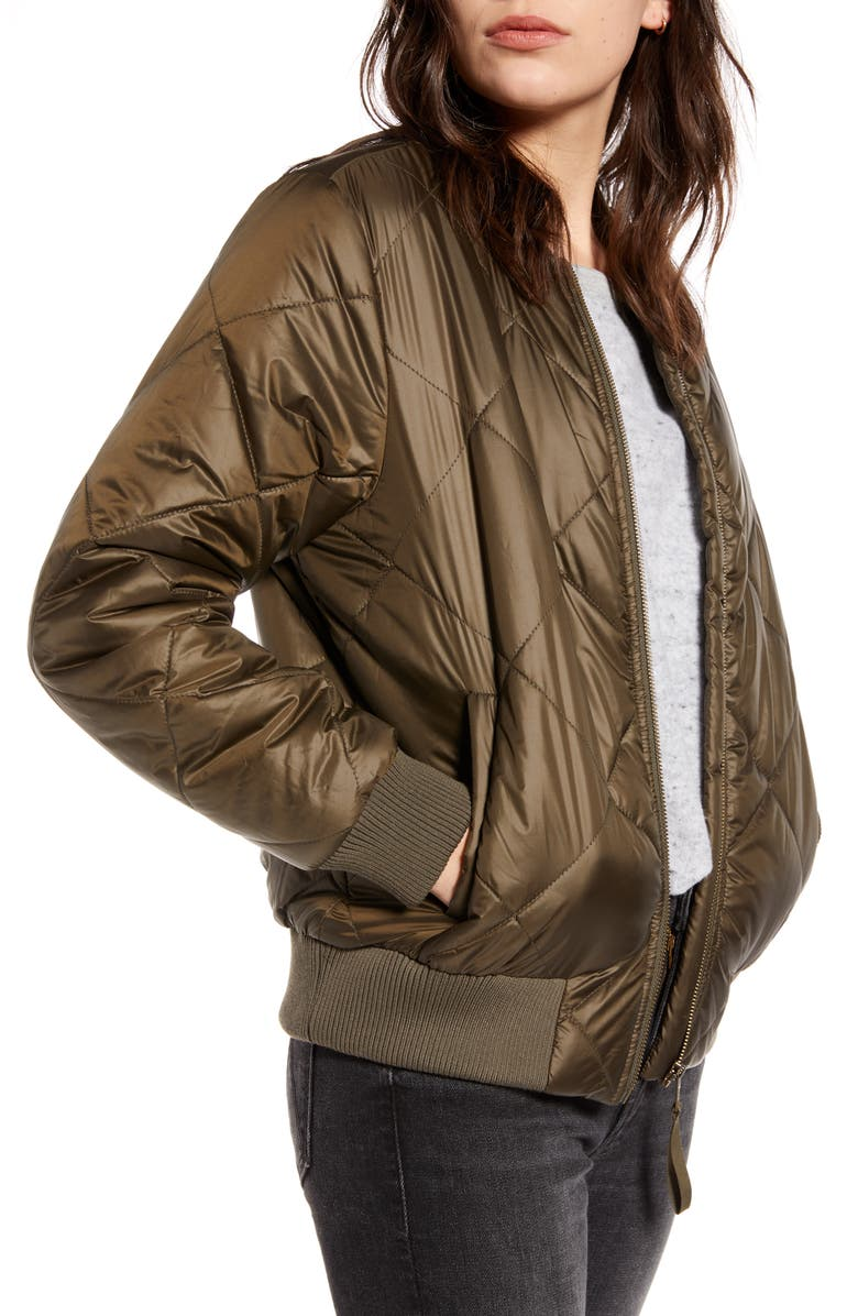 TREASURE & BOND Quilted Bomber Jacket, Main, color, 301