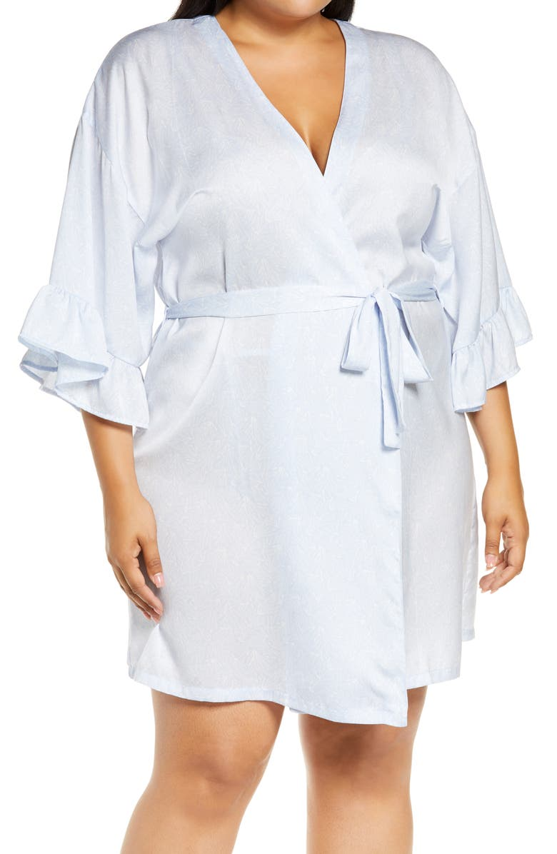 NORDSTROM Forever Tie Waist Satin Robe, Main, color, 450