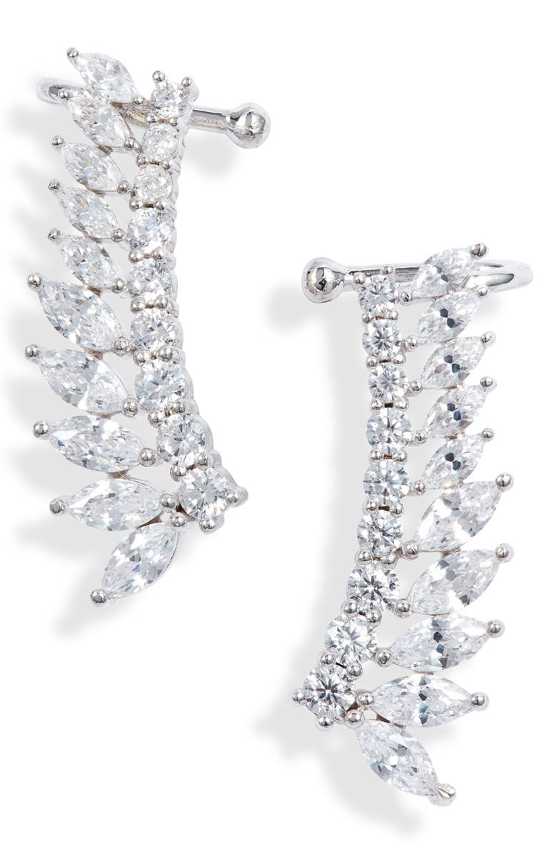 NORDSTROM Fanned Marquise Climber Cuff Earrings, Main, color, 040