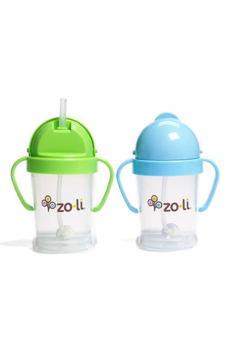 ZOLI 'BOT' Sippy Cup, Main, color, BLUE/ GREEN