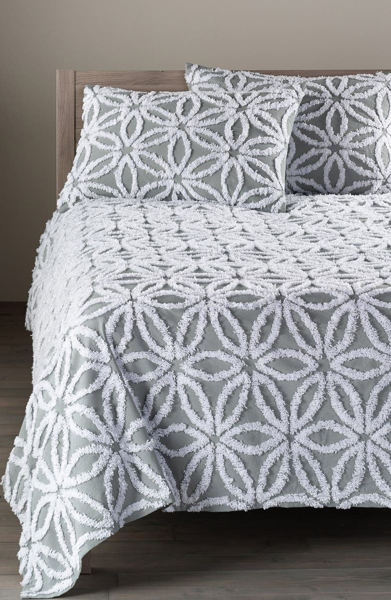 NORDSTROM at Home 'Gia' Tufted Bedspread, Main, color, GREY OIL MULTI
