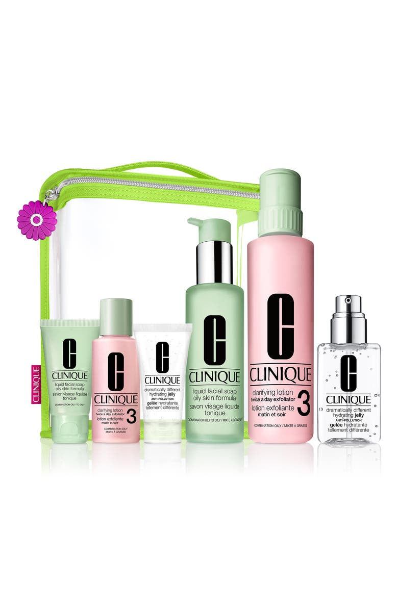 CLINIQUE Great Skin Everywhere Set for Combination Oily to Oily Skin Types, Main, color, 000