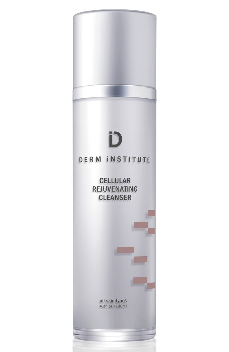 DERM INSTITUTE Cellular Rejuvenating Cleanser & Muslin Cloth, Main, color, NO COLOR
