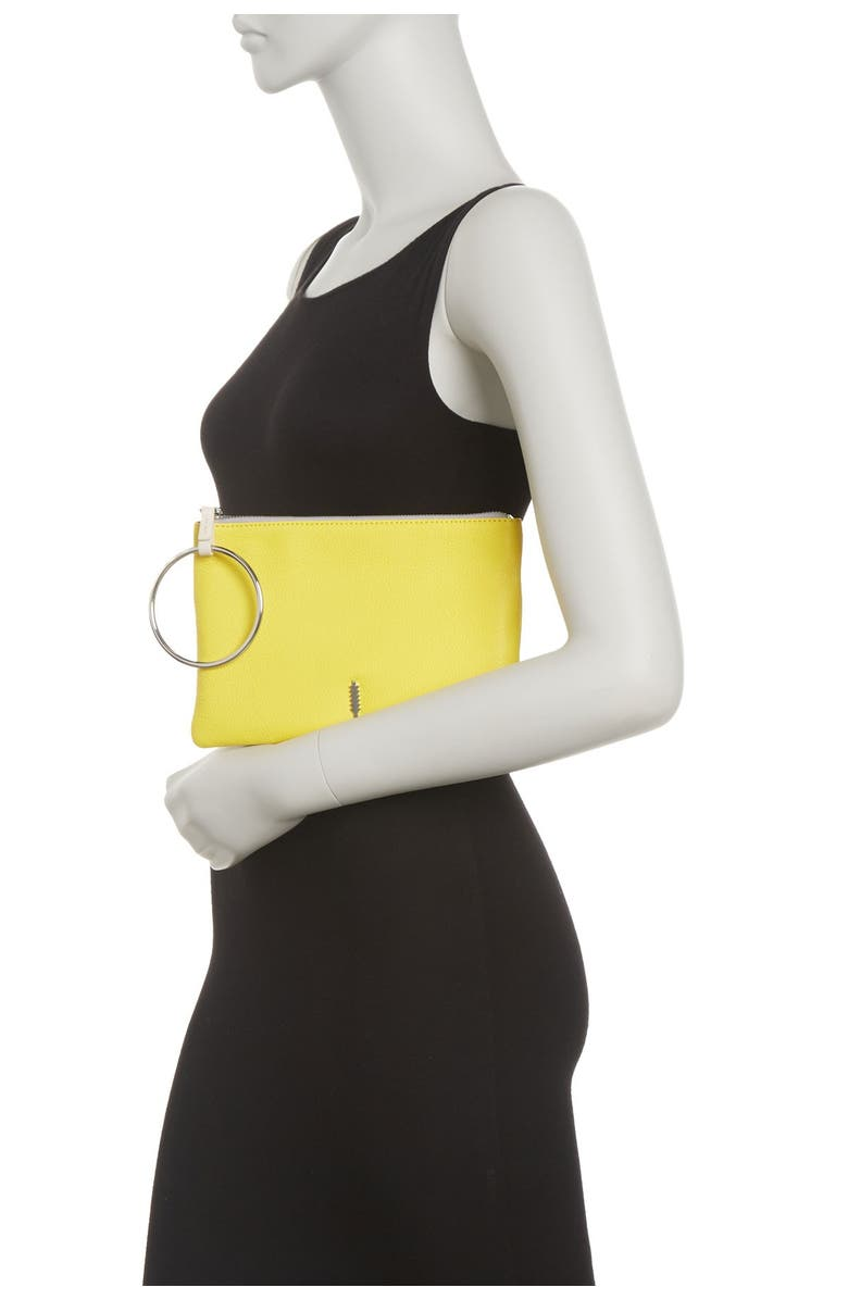 THACKER Metal Ring Penny Pouch, Main, color, LEMON